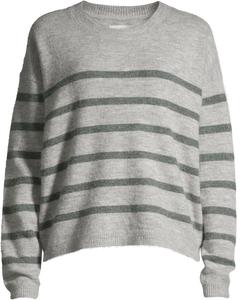 Essex Cn Sweater L/s Lt. Grey Melee / Green Melee