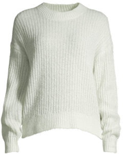 Ryan Knitted Pull L/s Misty Blue/off-white