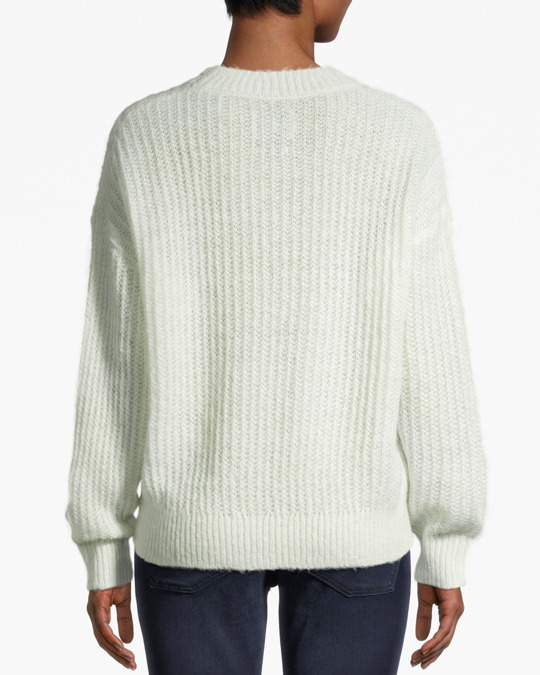Another-Label Ryan Knitted Pull L/s Misty Blue/off-white
