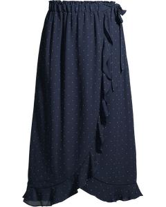 Roule Skirt Black Iris/comfrey