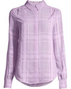 Maple Check Shirt Lilac Breeze
