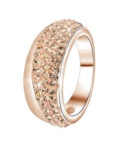 Stalen Ring Roseplated Light Peach Kristal