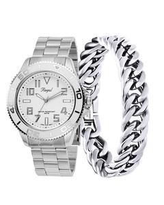 Edelstahl-Set, Armband und Regal Armbanduhr R14793-112