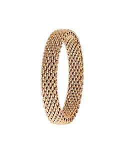 Ring aus rotvergoldetem Stahl-Mesh