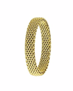 Stalen Ring Mesh Goldplated