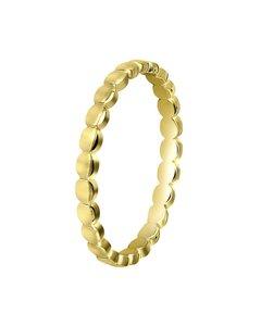 Vergoldeter Ring mit Kügelchen