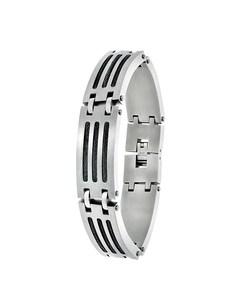 Stalen Armband Met Zwarte Kabels