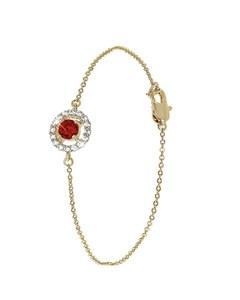 Vergoldetes Armband mit Rubin-Zirkonia