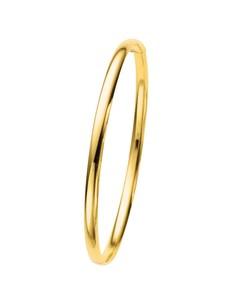 14 Karaat Geelgouden Holle Bangle Armband