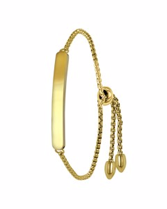 Stalen Plaatarmband Goldplated
