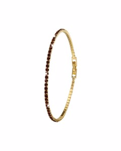 Goldplated Armband Siam Crystals