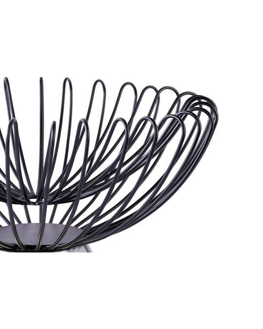360Living Decorative Bowl Malibu 125 Black / Silver