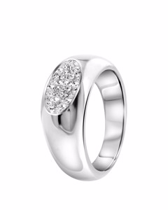 Stalen Ring Met Kristal