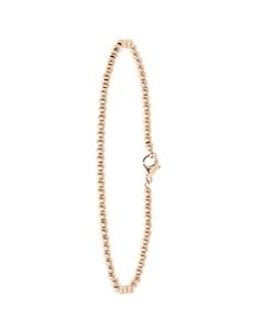 Armband aus Edelstahl, rosévergoldet, Kugelkette