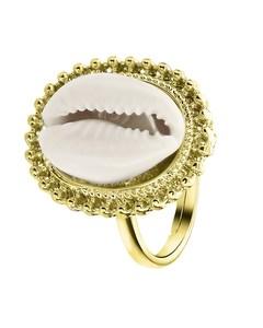 Goudkleurige Byoux Ring Met Schelp