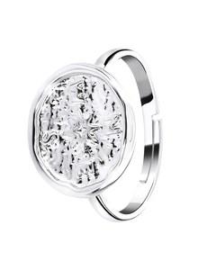 Silberfarbener Bijoux-Ring, Kompass