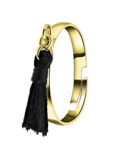 Goldfarbener Bijoux Ring mit quastenförmigem Anhänger