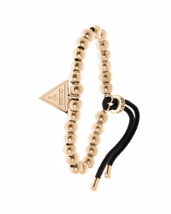 Guess Stalen Roseplated Koord Armband Triangle