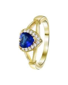 Goldplated Ring Hart Sapphire Met Zirkonia