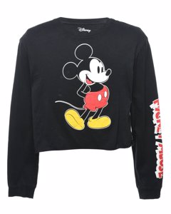 Black Disney Cartoon T-shirt