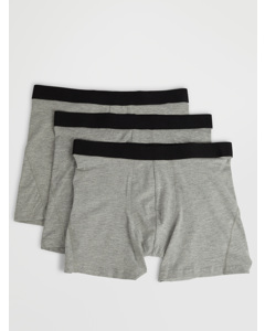 Trunks Mid 3 Pack Grey Melange