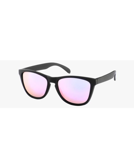 Lucardi Montini Zonnebril Zwart Met Roze Glazen