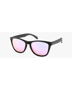 Montini Zonnebril Zwart Met Roze Glazen