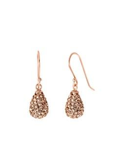Ohrringe aus 925 Silber mit rosafarbenem, tropfenförmigem Swarovski-Kristall