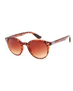 Braune Sonnenbrille mit braunen Gläsern