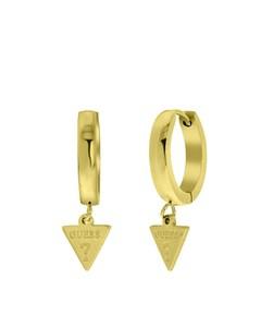 Guess Stalen Goldplated Oorbellen Triangle 15mm