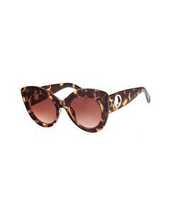 Sonnenbrille mit Leopardenprint und braunen Cateye-Gläsern
