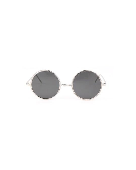 Lucardi Zilverkleurige Zonnebril Met Blauwe Glazen