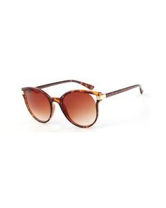 Sonnenbrille mit Leopardenprint und goldfarbenen Akzenten