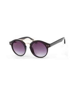 Schwarze Sonnenbrille mit goldfarbenen Akzenten
