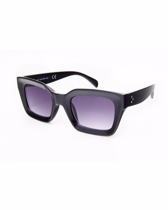 Lucardi Zwarte Zonnebril Met Donkere Glazen