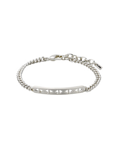 Crystal Clear Bracelet Silver Plated
