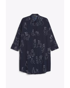 Moa Shirtdress Blue