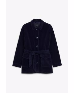 Marnie Cord Jacket Navy Blue