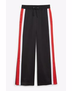 Tracksuit pants Black white red