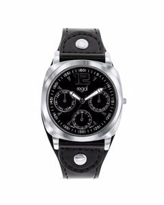 Regal Armbanduhr für Jungen mit einem schwarzen Lederband