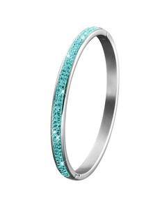 Stalen Kinderarmband Blue Zircon Kristal