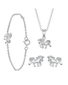 Silbernes Kinderset Pferd