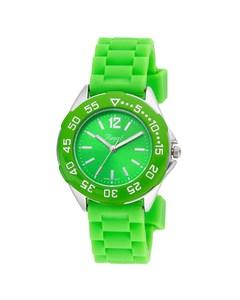 Regal-Kinderuhr für Jungen mit grünem Band R37800-434