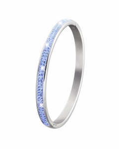 Stalen Kinderarmband Light Sapphire Kristal