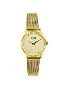 Regal Armbanduhr mit einem goldfarbenen Gehäuse und Armband