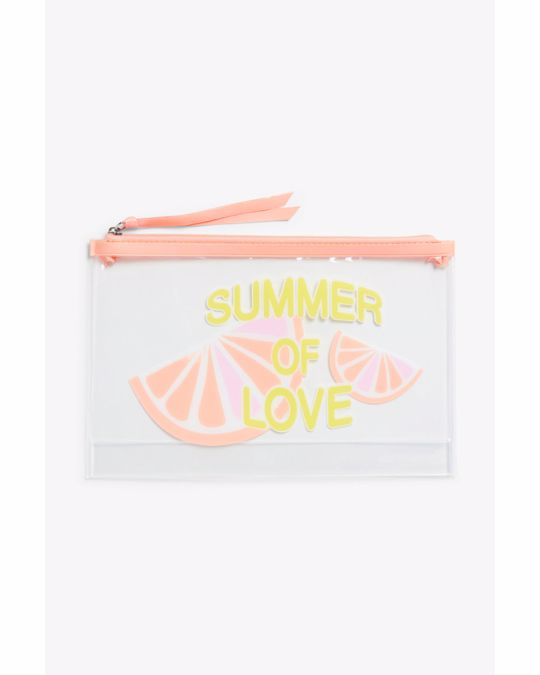 Monki Zip case Summer of love print