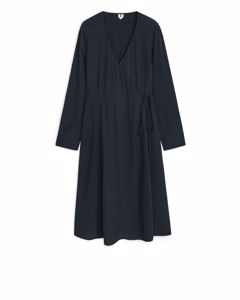 Short Wrap Dress Navy