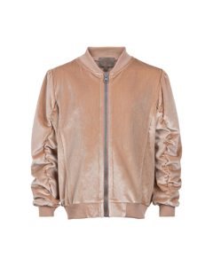 Jacket Bomber Velvet Rose Smoke