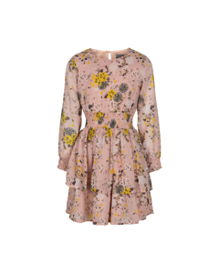 Dress Printed Chiffon Rose Smoke