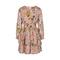 Dress Printed Chiffon Rose Smoke